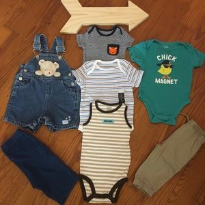 Baby Boy Summer Fall Bundle of Clothes 3-6 Months